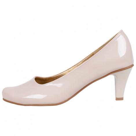 Casani 35 białe obcas 2,5 cm