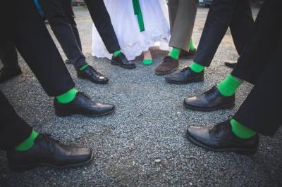 Satyna zielona ślubne Casani